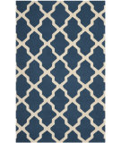 RugStudio presents Safavieh Cambridge CAM121G Navy Blue / Ivory Hand-Tufted, Good Quality Area Rug