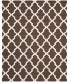RugStudio presents Safavieh Cambridge CAM121H Dark Brown / Ivory Hand-Tufted, Good Quality Area Rug