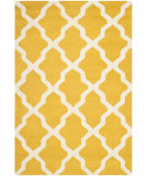 RugStudio presents Safavieh Cambridge CAM121Q Gold / Ivory Hand-Tufted, Better Quality Area Rug