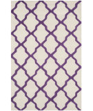 RugStudio presents Safavieh Cambridge Cam121v Ivory - Purple Hand-Tufted, Good Quality Area Rug
