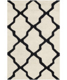 RugStudio presents Safavieh Cambridge Cam121w Ivory - Black Hand-Tufted, Good Quality Area Rug
