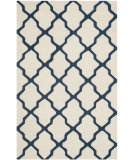 RugStudio presents Safavieh Cambridge Cam121z Ivory / Navy Hand-Tufted, Good Quality Area Rug