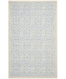 RugStudio presents Safavieh Cambridge CAM123A Light Blue / Ivory Hand-Tufted, Good Quality Area Rug