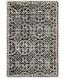 RugStudio presents Safavieh Cambridge Cam123e Black / Ivory Hand-Tufted, Better Quality Area Rug