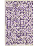 RugStudio presents Safavieh Cambridge CAM123K Purple / Ivory Hand-Tufted, Good Quality Area Rug