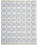 RugStudio presents Safavieh Cambridge Cam125a Light Blue / Ivory Hand-Tufted, Good Quality Area Rug
