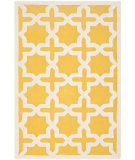 RugStudio presents Safavieh Cambridge Cam125q Gold / Ivory Hand-Tufted, Better Quality Area Rug