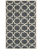 RugStudio presents Safavieh Cambridge Cam125x Dark Grey / Ivory Hand-Tufted, Good Quality Area Rug