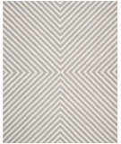 RugStudio presents Safavieh Cambridge Cam129d Silver / Ivory Hand-Tufted, Better Quality Area Rug