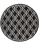 RugStudio presents Safavieh Cambridge Cam131e Black / Ivory Hand-Tufted, Good Quality Area Rug