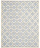 RugStudio presents Safavieh Cambridge Cam132a Light Blue / Ivory Hand-Tufted, Good Quality Area Rug