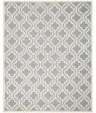 RugStudio presents Safavieh Cambridge Cam132d Silver / Ivory Hand-Tufted, Good Quality Area Rug