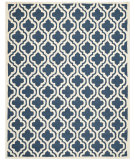 RugStudio presents Safavieh Cambridge Cam132g Navy / Ivory Hand-Tufted, Good Quality Area Rug