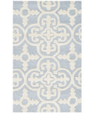 RugStudio presents Safavieh Cambridge Cam133a Light Blue / Ivory Hand-Tufted, Good Quality Area Rug