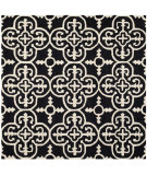 RugStudio presents Safavieh Cambridge Cam133e Black / Ivory Hand-Tufted, Good Quality Area Rug