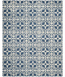 RugStudio presents Safavieh Cambridge CAM133G Navy / Ivory Hand-Tufted, Good Quality Area Rug