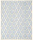RugStudio presents Safavieh Cambridge Cam134a Light Blue / Ivory Hand-Tufted, Good Quality Area Rug