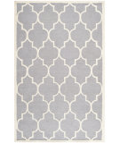 RugStudio presents Safavieh Cambridge Cam134d Silver / Ivory Hand-Tufted, Good Quality Area Rug
