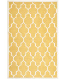 RugStudio presents Safavieh Cambridge Cam134q Gold / Ivory Hand-Tufted, Better Quality Area Rug