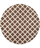 RugStudio presents Safavieh Cambridge Cam135h Dark Brown / Ivory Hand-Tufted, Good Quality Area Rug