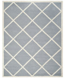 RugStudio presents Safavieh Cambridge CAM136D Silver / Ivory Hand-Tufted, Good Quality Area Rug