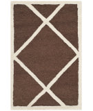 RugStudio presents Safavieh Cambridge Cam136h Dark Brown / Ivory Hand-Tufted, Good Quality Area Rug