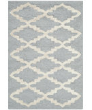 RugStudio presents Safavieh Cambridge Cam137d Silver / Ivory Hand-Tufted, Good Quality Area Rug