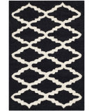RugStudio presents Safavieh Cambridge Cam137e Black / Ivory Hand-Tufted, Better Quality Area Rug