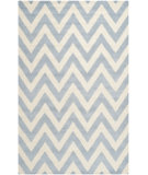 RugStudio presents Safavieh Cambridge Cam139a Light Blue / Ivory Hand-Tufted, Better Quality Area Rug