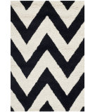 RugStudio presents Safavieh Cambridge Cam139e Black / Ivory Hand-Tufted, Good Quality Area Rug