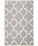 RugStudio presents Safavieh Cambridge Cam140d Silver / Ivory Hand-Tufted, Better Quality Area Rug