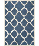 RugStudio presents Rugstudio Sample Sale 94151R Navy / Ivory Hand-Tufted, Better Quality Area Rug