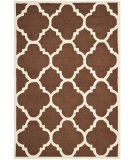 RugStudio presents Safavieh Cambridge Cam140h Dark Brown / Ivory Hand-Tufted, Better Quality Area Rug
