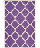 RugStudio presents Safavieh Cambridge Cam140k Purple / Ivory Hand-Tufted, Better Quality Area Rug