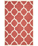 RugStudio presents Safavieh Cambridge Cam140l Rust / Ivory Hand-Tufted, Better Quality Area Rug