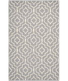 RugStudio presents Safavieh Cambridge Cam141d Silver / Ivory Hand-Tufted, Good Quality Area Rug