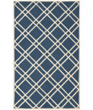 RugStudio presents Safavieh Cambridge CAM142G Navy Blue / Ivory Hand-Tufted, Better Quality Area Rug