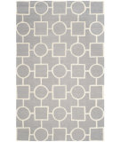 RugStudio presents Safavieh Cambridge Cam143d Silver / Ivory Hand-Tufted, Better Quality Area Rug