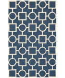RugStudio presents Safavieh Cambridge CAM143G Navy Blue / Ivory Area Rug