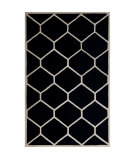 RugStudio presents Safavieh Cambridge CAM144E Black / Ivory Hand-Tufted, Better Quality Area Rug