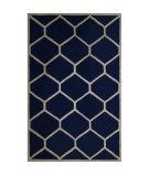 RugStudio presents Safavieh Cambridge CAM144G Navy Blue / Ivory Area Rug