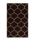 RugStudio presents Safavieh Cambridge CAM144H Dark Brown / Ivory Hand-Tufted, Better Quality Area Rug