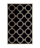 RugStudio presents Safavieh Cambridge CAM145E Black / Ivory Area Rug