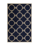 RugStudio presents Safavieh Cambridge CAM145G Navy Blue / Ivory Area Rug