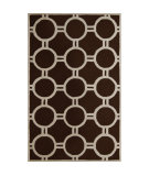 RugStudio presents Safavieh Cambridge CAM145H Dark Brown / Ivory Hand-Tufted, Better Quality Area Rug