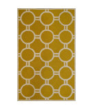 RugStudio presents Safavieh Cambridge CAM145Q Gold / Ivory Area Rug