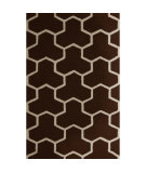 RugStudio presents Safavieh Cambridge CAM146H Dark Brown / Ivory Hand-Tufted, Better Quality Area Rug