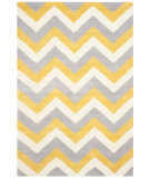 RugStudio presents Safavieh Cambridge Cam153a Grey / Gold Hand-Tufted, Better Quality Area Rug