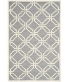 RugStudio presents Safavieh Cambridge Cam311d Dark Grey / Ivory Hand-Tufted, Better Quality Area Rug