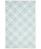 RugStudio presents Safavieh Cambridge Cam311e Light Blue / Ivory Hand-Tufted, Better Quality Area Rug